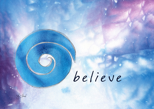 believe (blue)