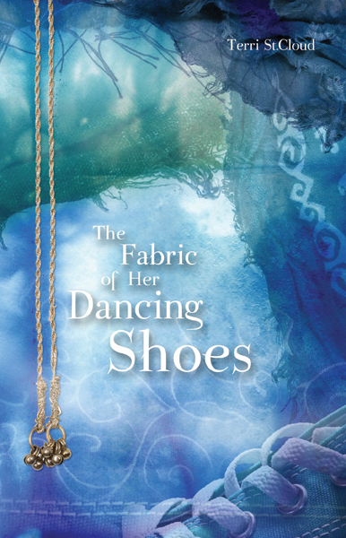 the fabric of her dancing shoes