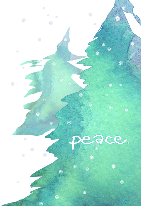 peace holiday card pack